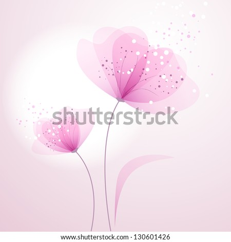 vector background with pink Flower