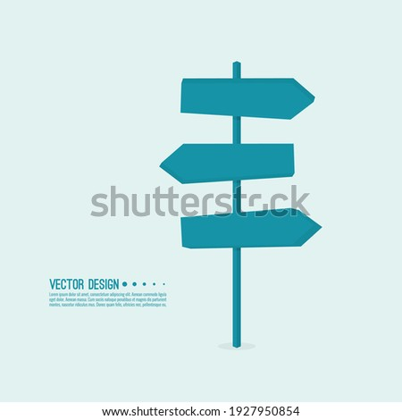 Vector background with signpost arrows to the right and left. Choice of direction. Сток-фото ©