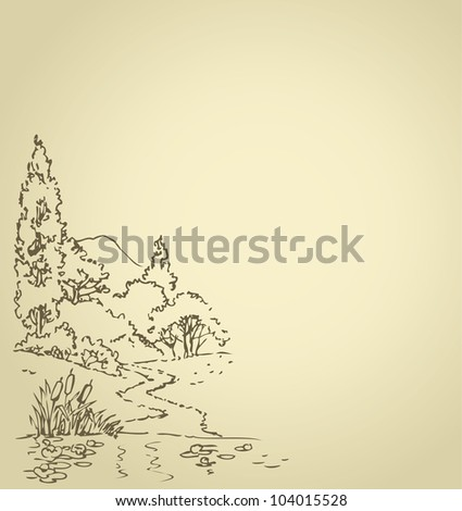 vector background with sketch