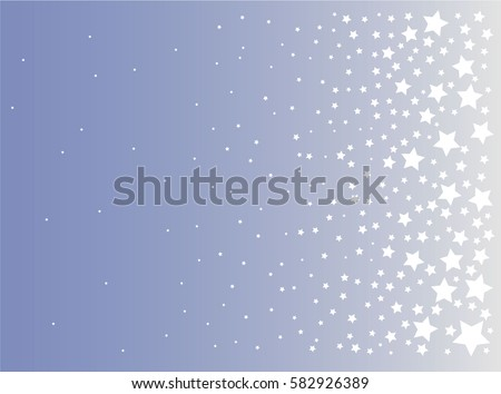 Vector background with stars.Christmas and New Year card, invitation, postcard, paper packaging.Abstract Background.Vector illustration.Flying stars. Blue sky.