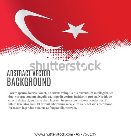 vector background with turkish