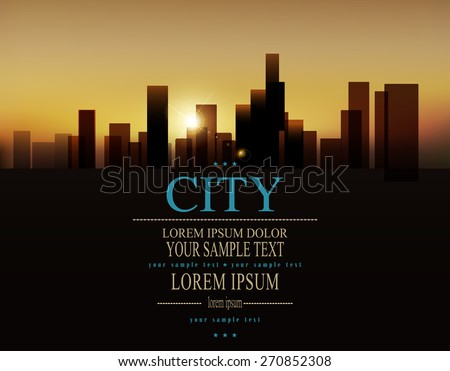 vector background with urban