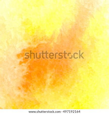 Vector background with watercolor splash. Yellow watercolour card #497192164