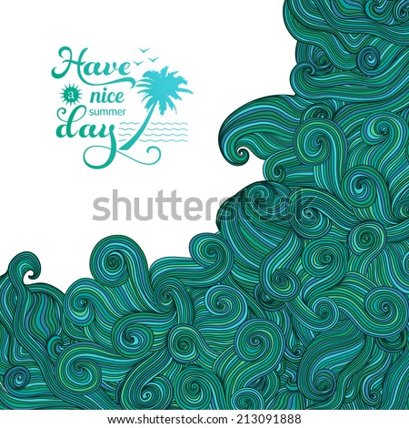 vector background with wave