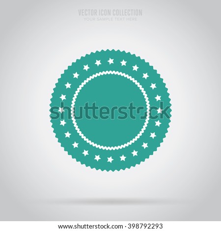 Vector badge flat style vector for advertisement offer. Isolated blank badge sticker for design.