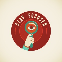 Vector badge in flat style - Stay focused