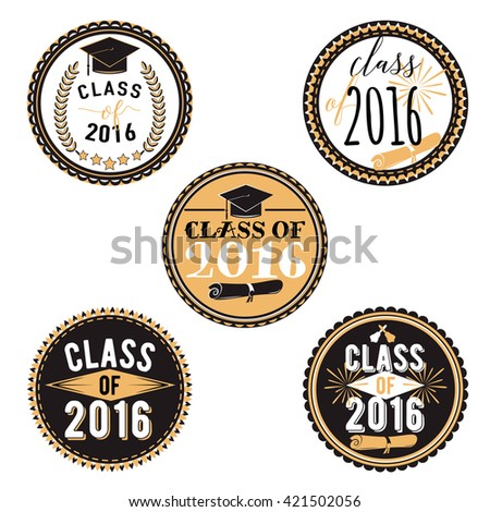 ... Labels Printable. Class Of 2016. Set Graduations Stickers. - 421502056