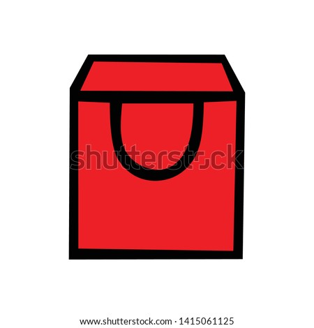 Vector bags, flat sign symbols for cellular and web design concepts, simple symbol bags, symbol bags