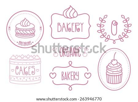 vector bakery shop logo