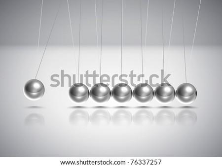 Vector Balancing Balls Newton's Cradle