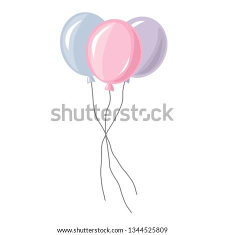 vector balloon isolated on