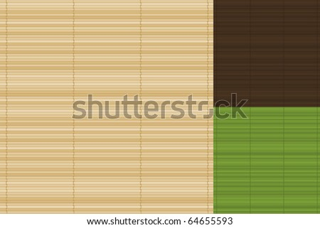 Vector Bamboo Background Set