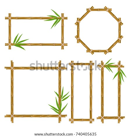 vector bamboo frame set wooden
