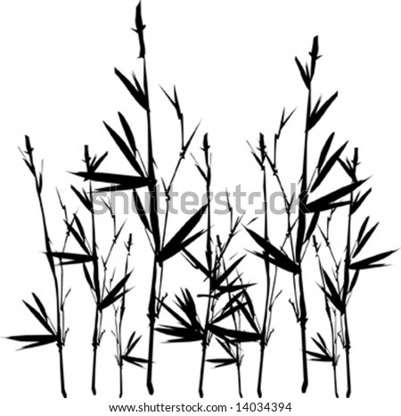 Vector bamboo silhouette