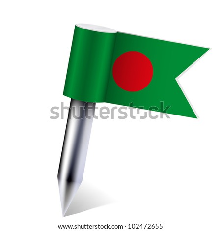 Vector Bangladesh flag isolated on white. Eps10
