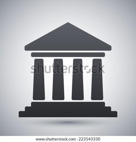 Vector bank building icon