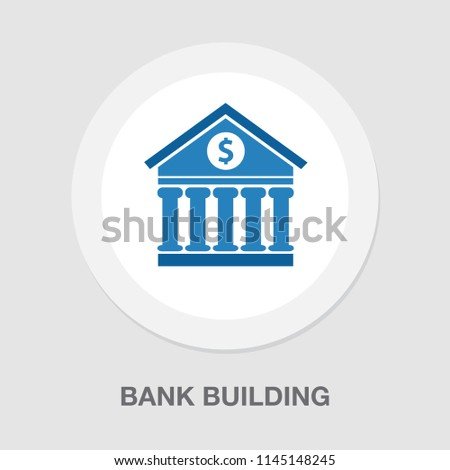 vector bank building illustration. government office symbol - banking icon