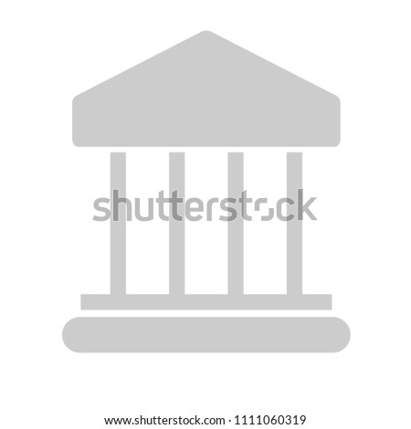 vector bank building illustration isolated. banking sign symbol - finance icon