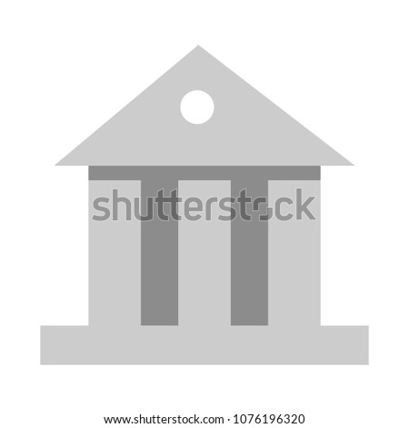 vector bank building symbol illustration isolated