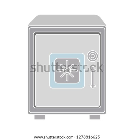vector bank safe icon -lock symbol- payment icon - money security symbol - protection illustration- confidential sign -financial sign - wealth illustration-cash icon