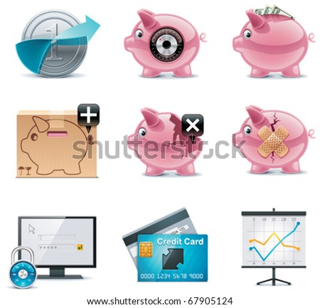 Vector banking icons. Part 1