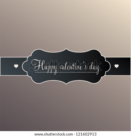 Vector banner and decorative elements, vintage frames. Valentine's day