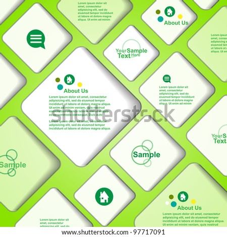 Vector banner bubble background