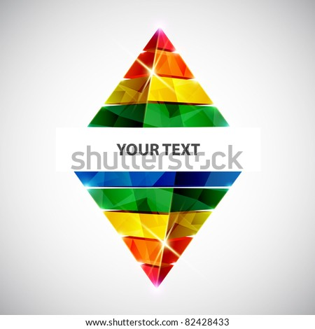 Vector banner. Colorful pyramid