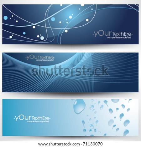 vector banner design set