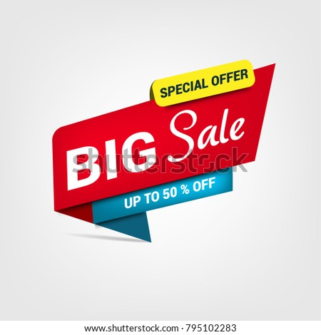Vector banner for big sale