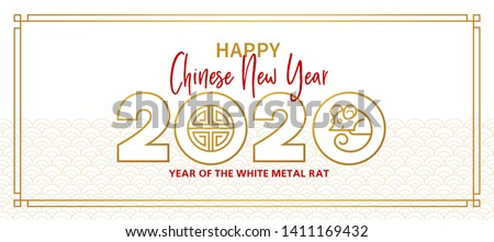 Vector banner, money envelope with a illustration of the rat zodiac sign, symbol of 2020 on the Chinese calendar, isolated. Metal Rat, chine lucky in New Year. Element for Chinese New Year's design.