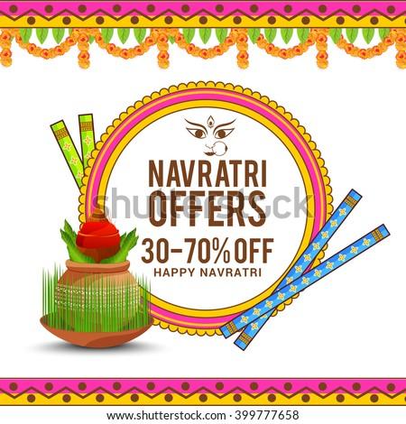 vector banner navratri of happy