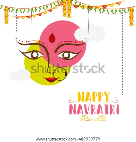 Vector banner or poster of Navratri celebration background,grand discount offers. #489959779