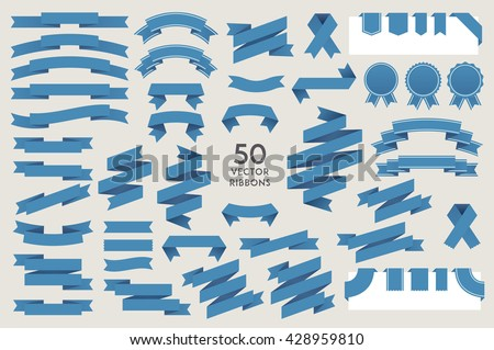 vector banner ribbons set of