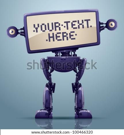 vector banner robot 6