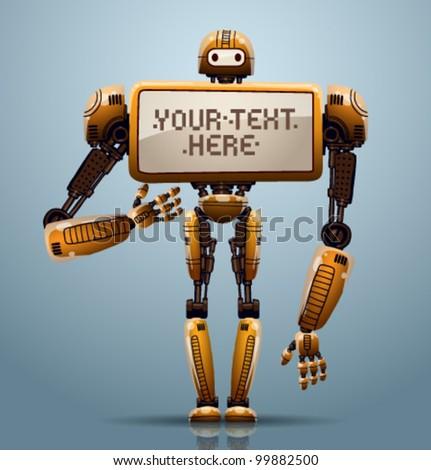 vector banner robot ?4