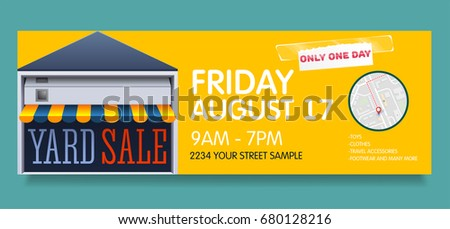 vector banner template for garage or yard sale event