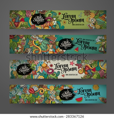 vector banner templates set