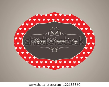 Vector banner Valentine's day with decorative elements