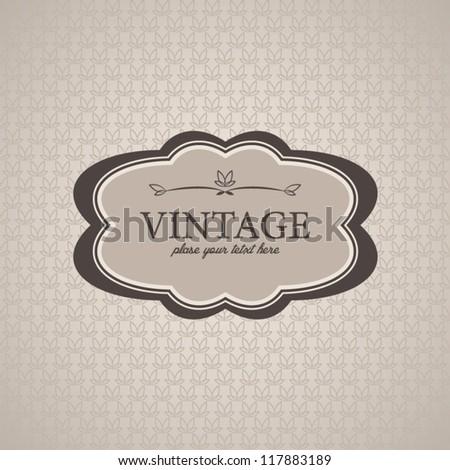 Vector banner, vintage card