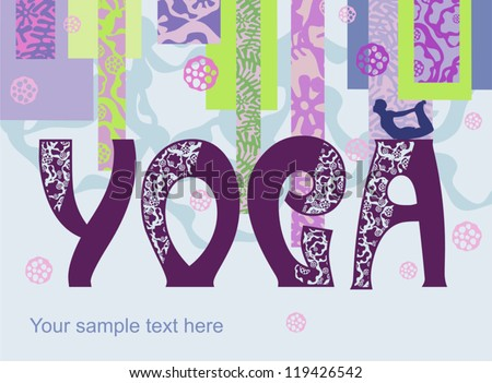 Vector banner  yoga - stock vector