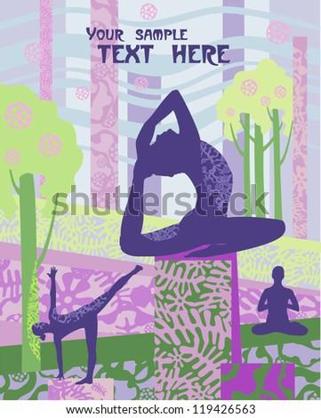 Vector banner  yoga