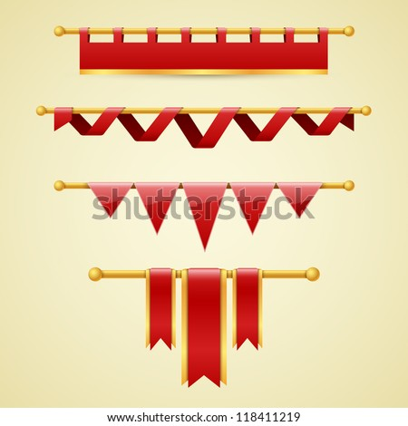 Vector banners and ribbons