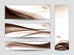 Vector Banners / Bookmarks. Abstract Background.