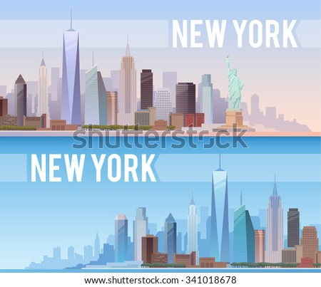 vector banners of the urban