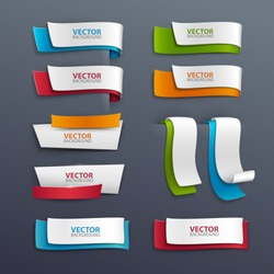 Vector banners set.