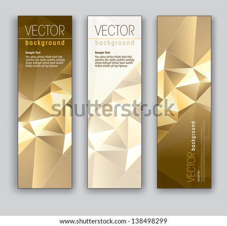 Vector Banners. Set of Three. Abstract Backgrounds in Eps10 Format.