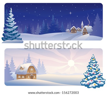 House Trees Sun Snow Clip Art Free Vector 4vector