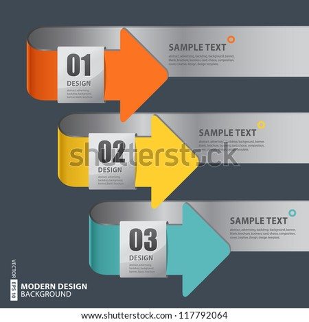 Vector Banners with Arrow Signs and Your Messages