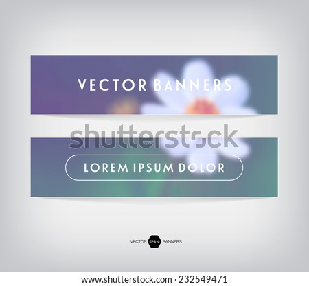 vector banners with blurred